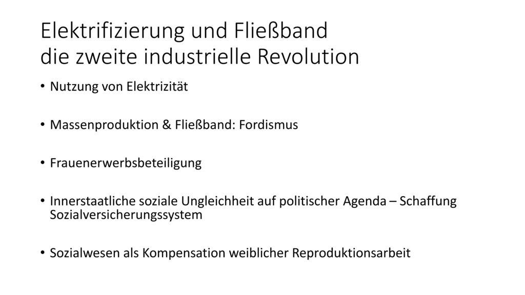 Elektrifizierung und Fließband die zweite industrielle Revolution