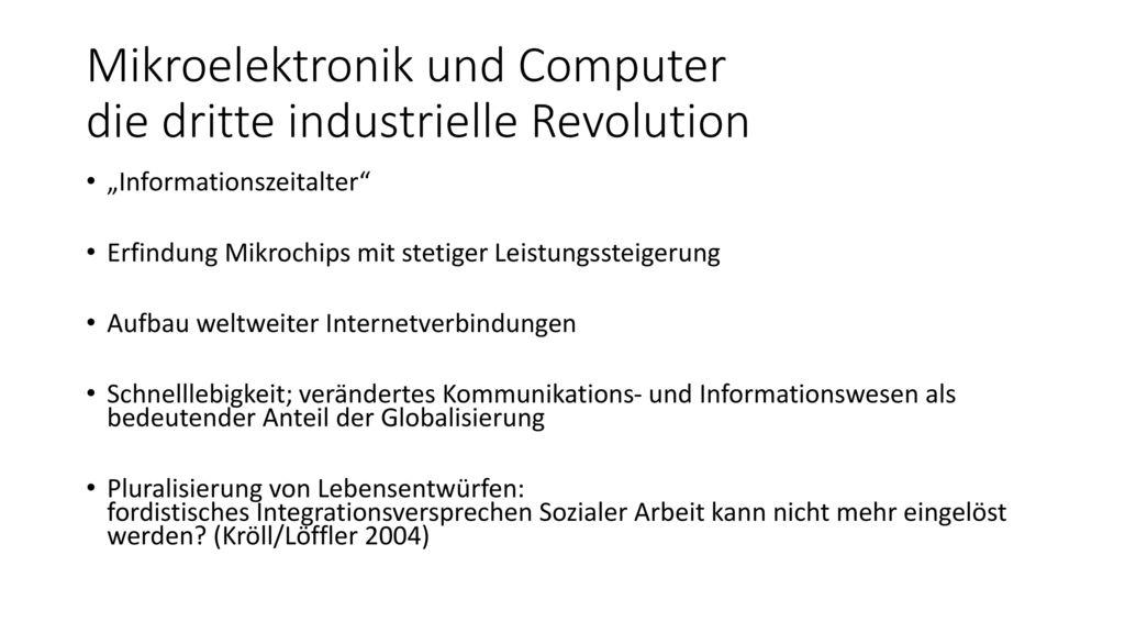 Mikroelektronik und Computer die dritte industrielle Revolution