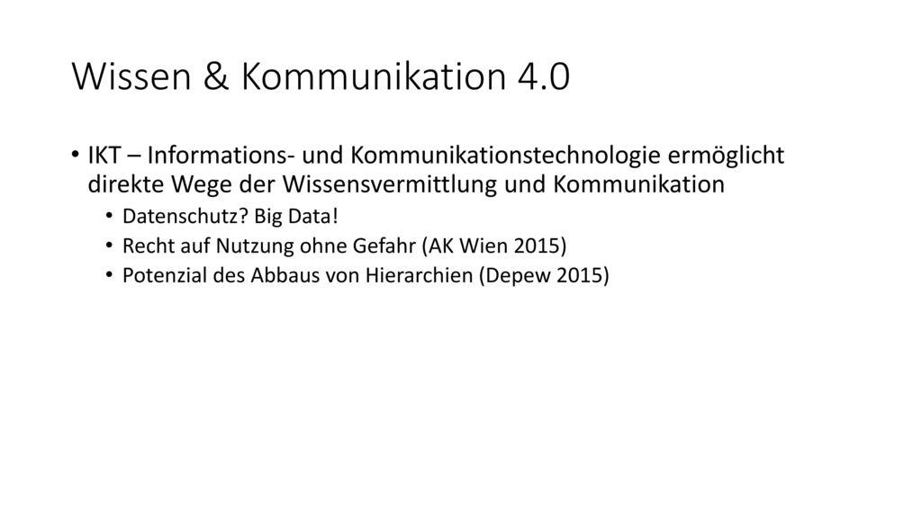 Wissen & Kommunikation 4.0