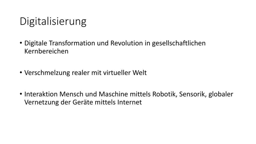 Digitalisierung Digitale Transformation und Revolution in gesellschaftlichen Kernbereichen. Verschmelzung realer mit virtueller Welt.