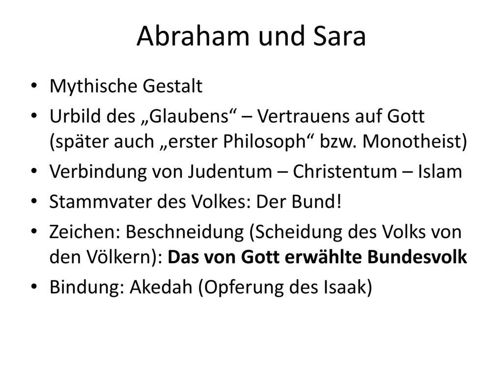 Abraham und Sara Mythische Gestalt