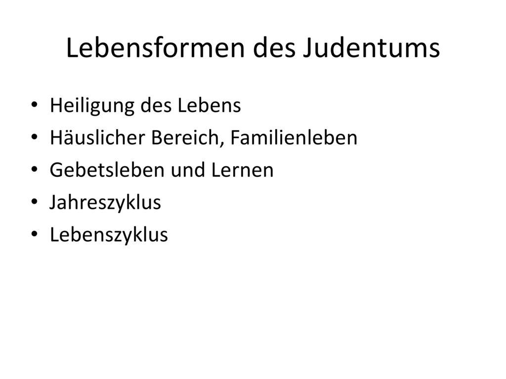 Lebensformen des Judentums