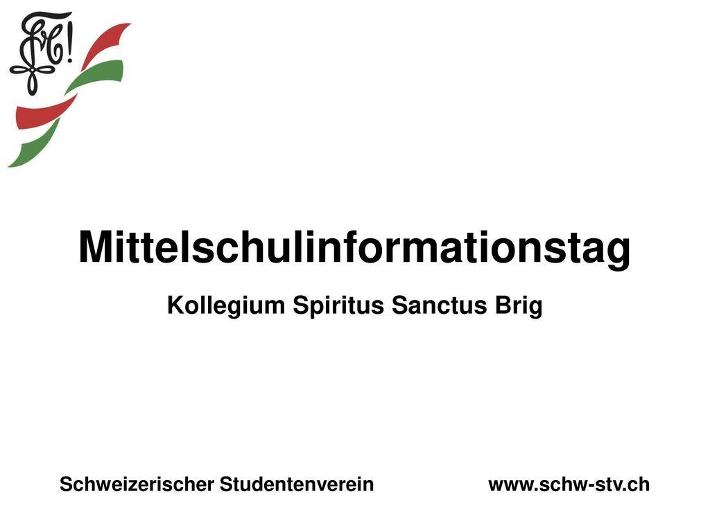 Mittelschulinformationstag Kollegium Spiritus Sanctus Brig