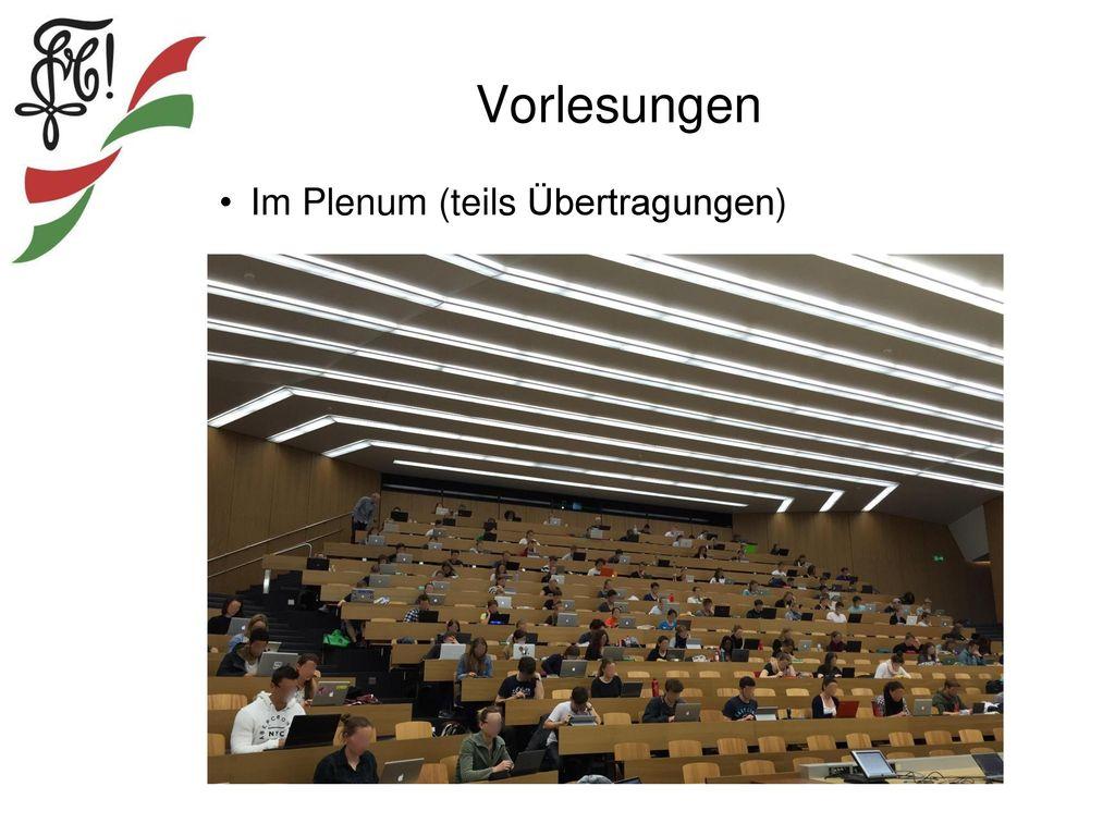 Vorlesungen Im Plenum (teils Übertragungen)