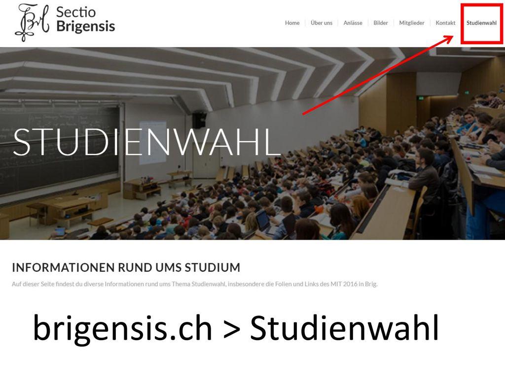 brigensis.ch > Studienwahl