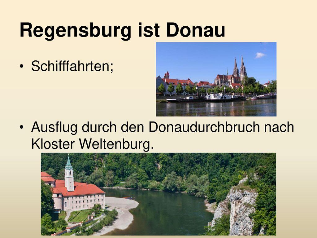 Regensburg ist Donau Schifffahrten;