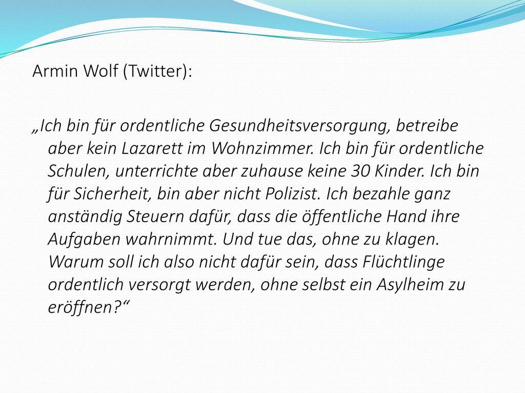 Armin Wolf (Twitter):