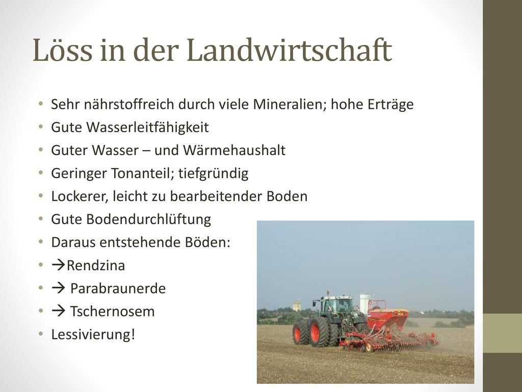 Löss in der Landwirtschaft