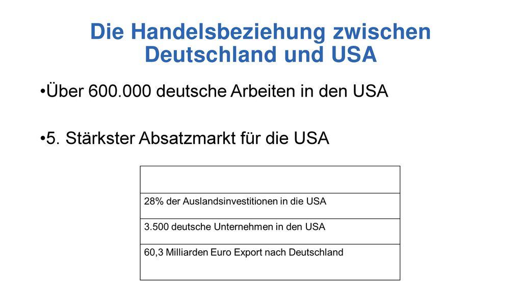 export usa deutschland