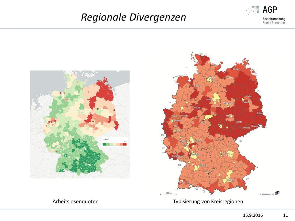 Regionale Divergenzen