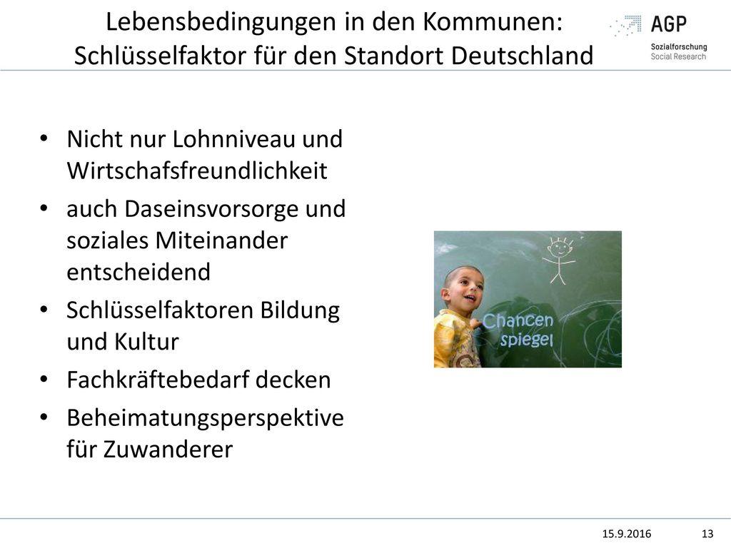 Lebensbedingungen in den Kommunen: Schlüsselfaktor für den Standort Deutschland