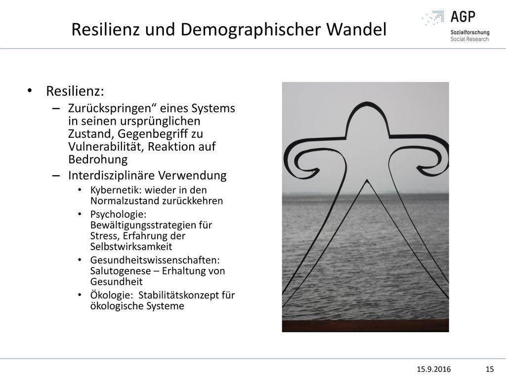 Resilienz und Demographischer Wandel