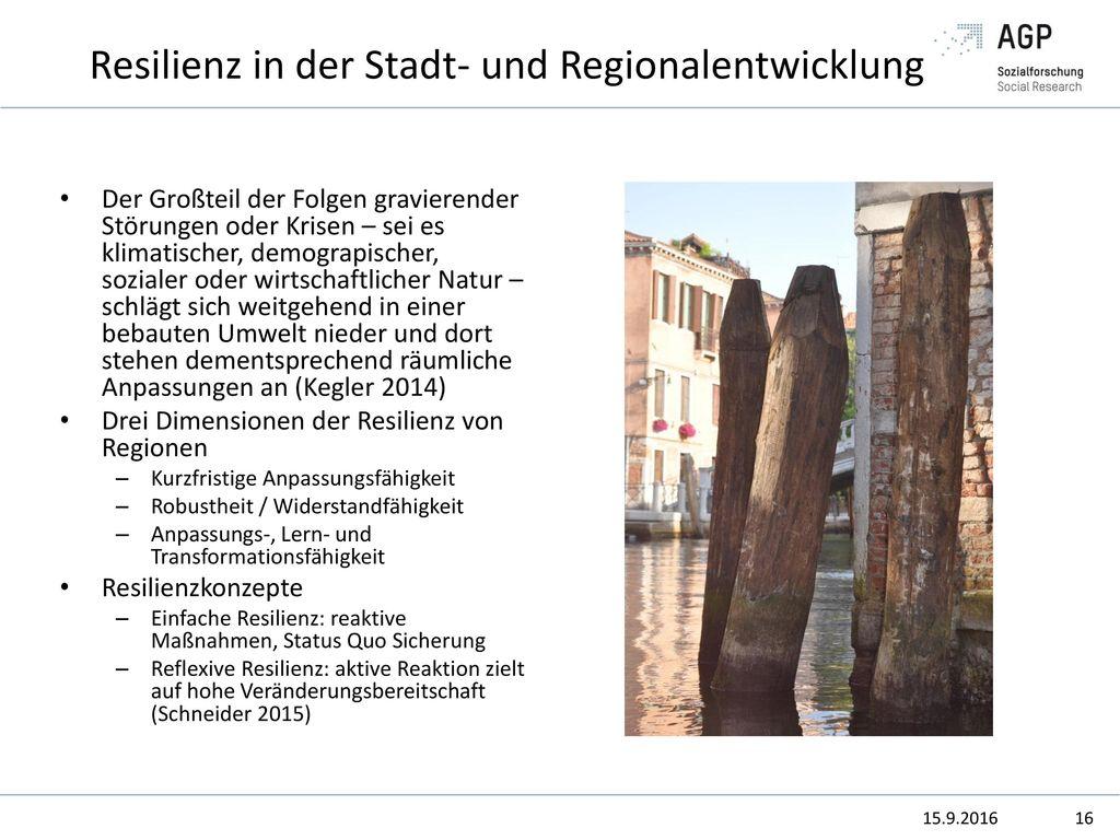 Resilienz in der Stadt- und Regionalentwicklung