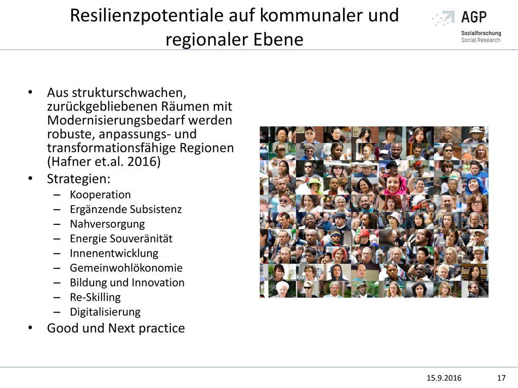 Resilienzpotentiale auf kommunaler und regionaler Ebene