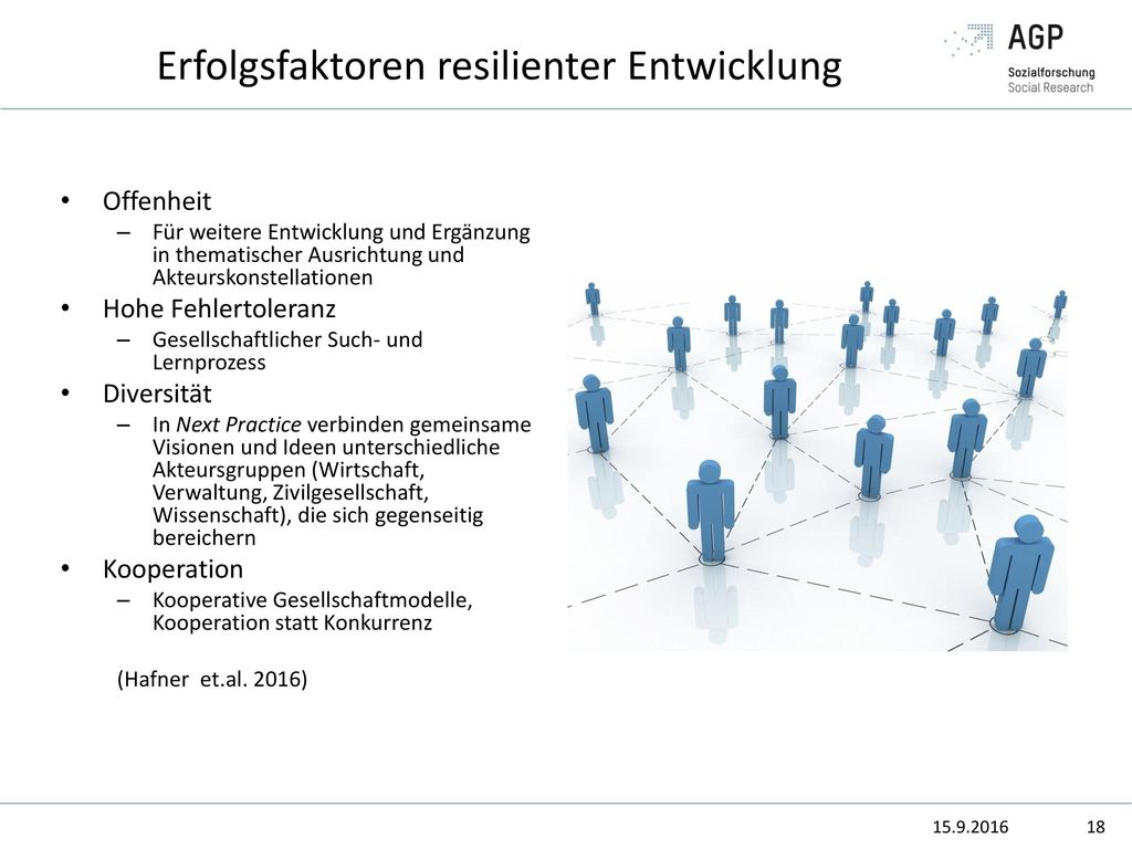 Erfolgsfaktoren resilienter Entwicklung