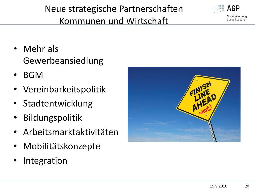 Neue strategische Partnerschaften Kommunen und Wirtschaft