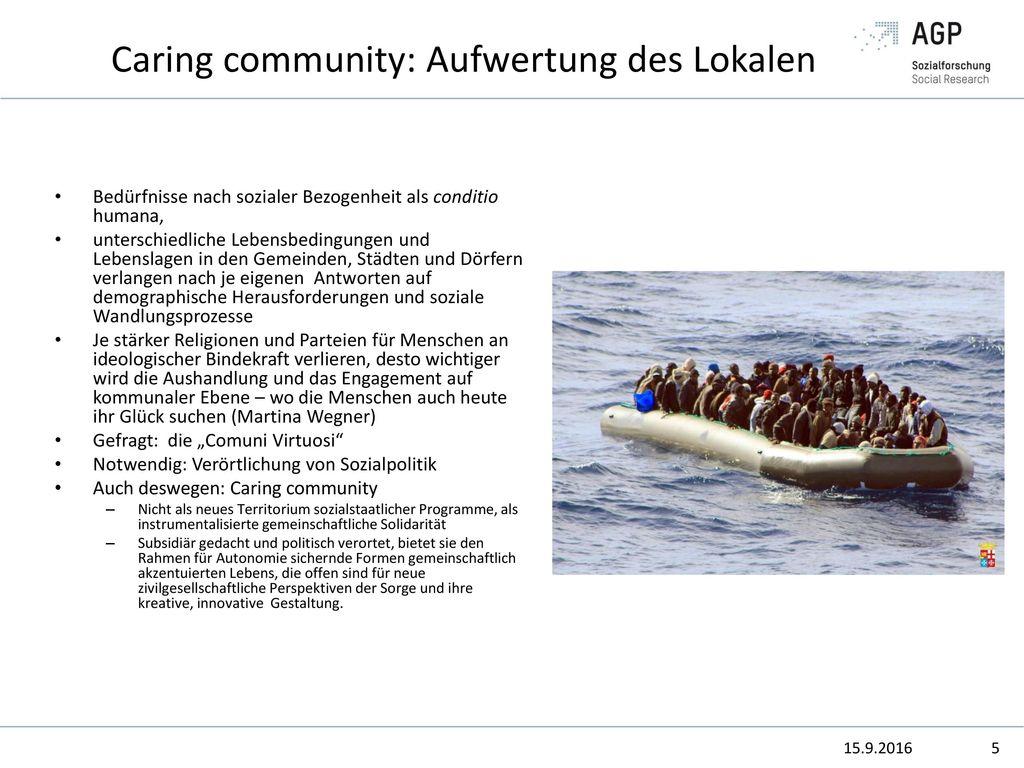 Caring community: Aufwertung des Lokalen