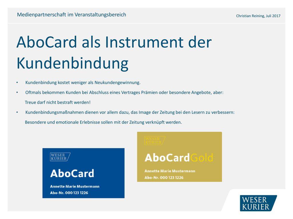 AboCard als Instrument der Kundenbindung