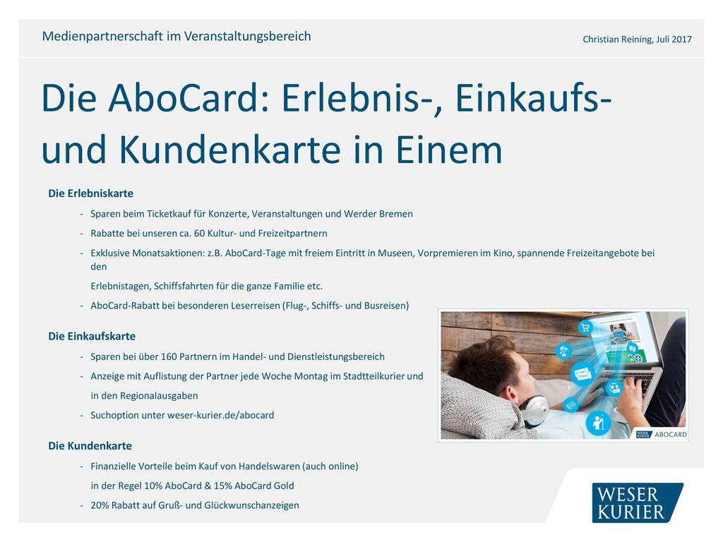 Die AboCard: Erlebnis-, Einkaufs- und Kundenkarte in Einem
