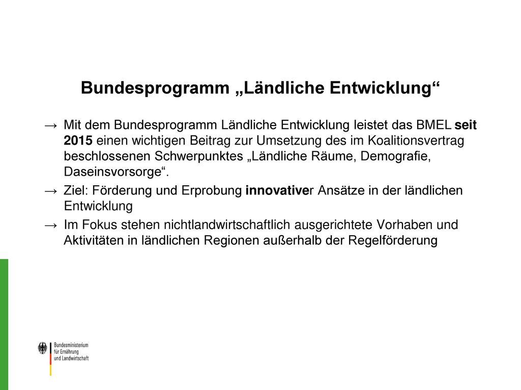 """Bundesprogramm """"Ländliche Entwicklung"""