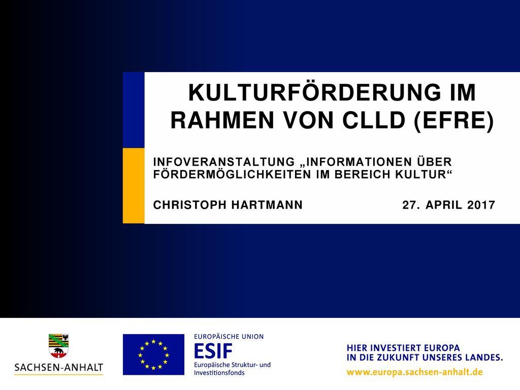 Kulturförderung im Rahmen von clld (EFRE)