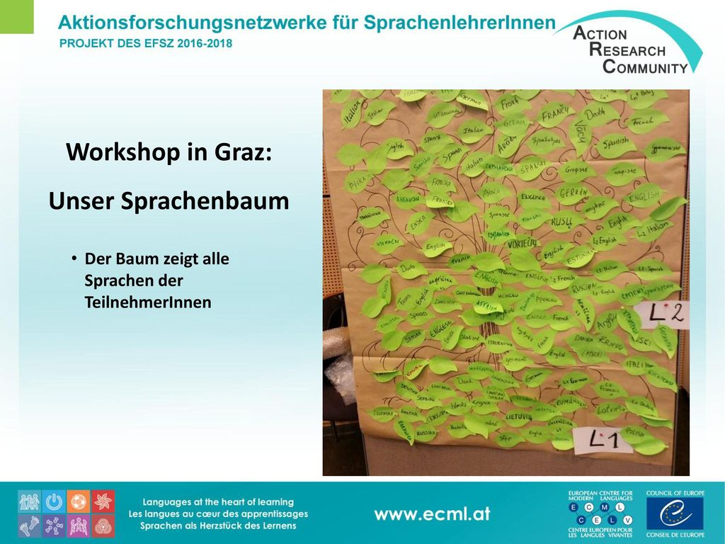 Workshop in Graz: Unser Sprachenbaum