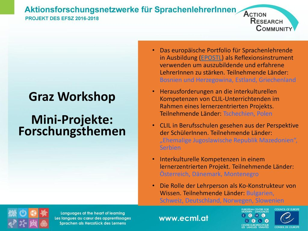 Graz Workshop Mini-Projekte: Forschungsthemen