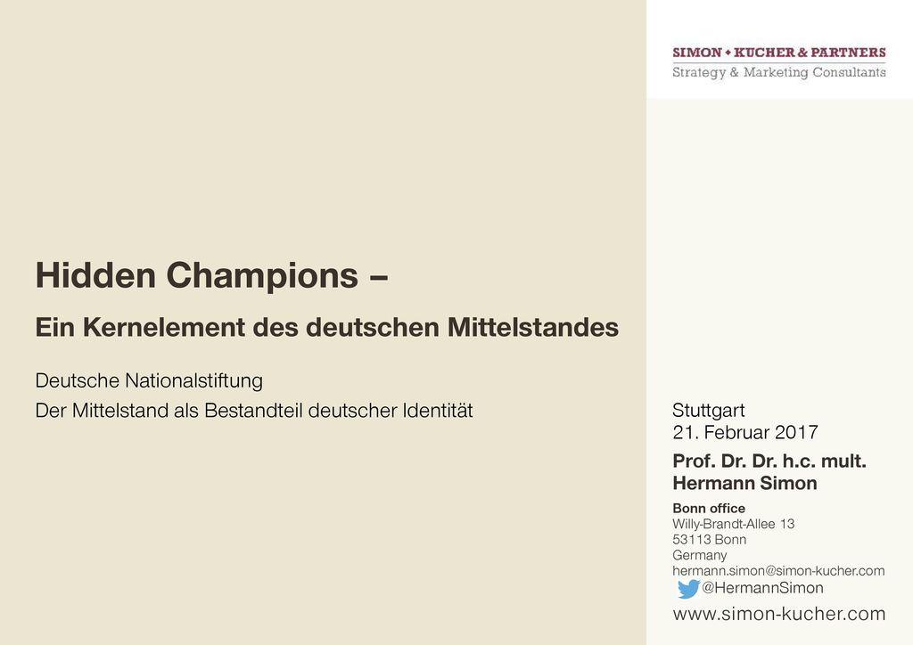 Hidden Champions – Ein Kernelement des deutschen Mittelstandes