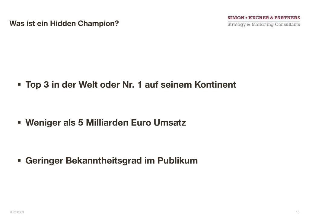 Was ist ein Hidden Champion