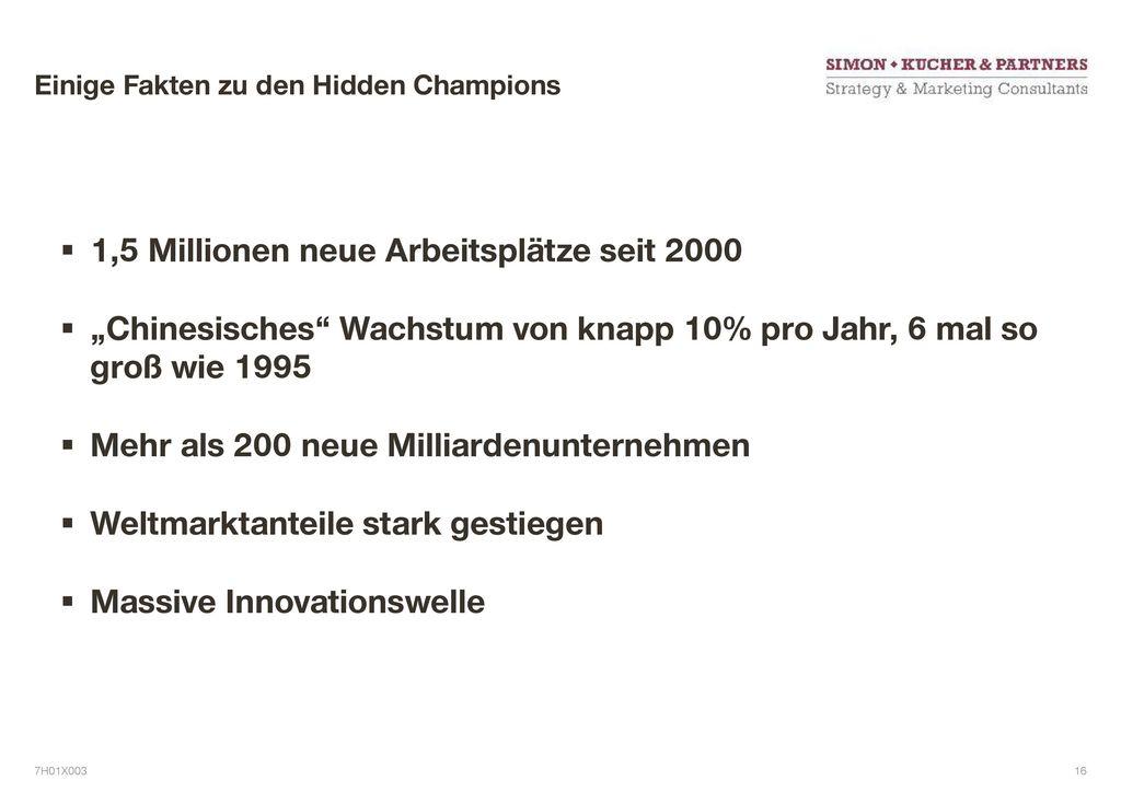 Einige Fakten zu den Hidden Champions