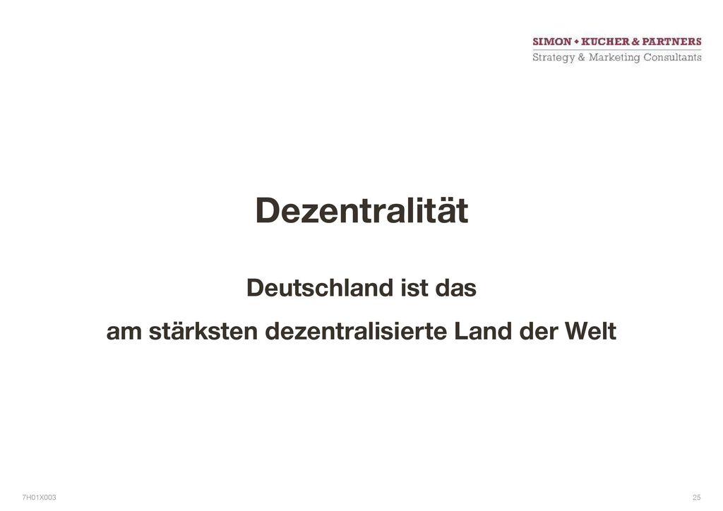 Deutschland ist das am stärksten dezentralisierte Land der Welt