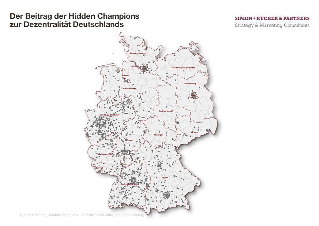 Der Beitrag der Hidden Champions zur Dezentralität Deutschlands