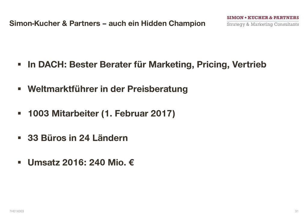 Simon-Kucher & Partners – auch ein Hidden Champion