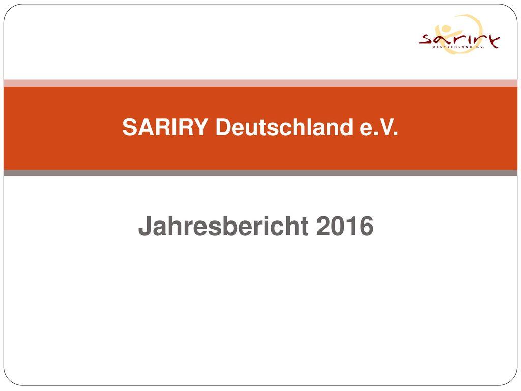 SARIRY Deutschland e.V. Jahresbericht 2016