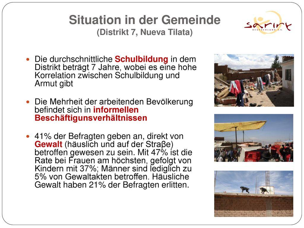 Situation in der Gemeinde (Distrikt 7, Nueva Tilata)