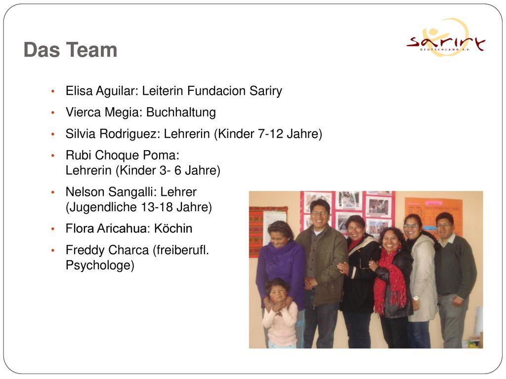 Das Team Elisa Aguilar: Leiterin Fundacion Sariry