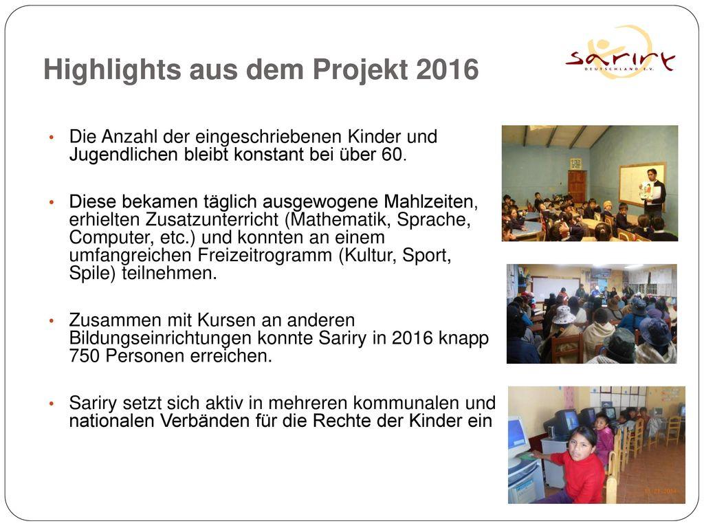 Highlights aus dem Projekt 2016