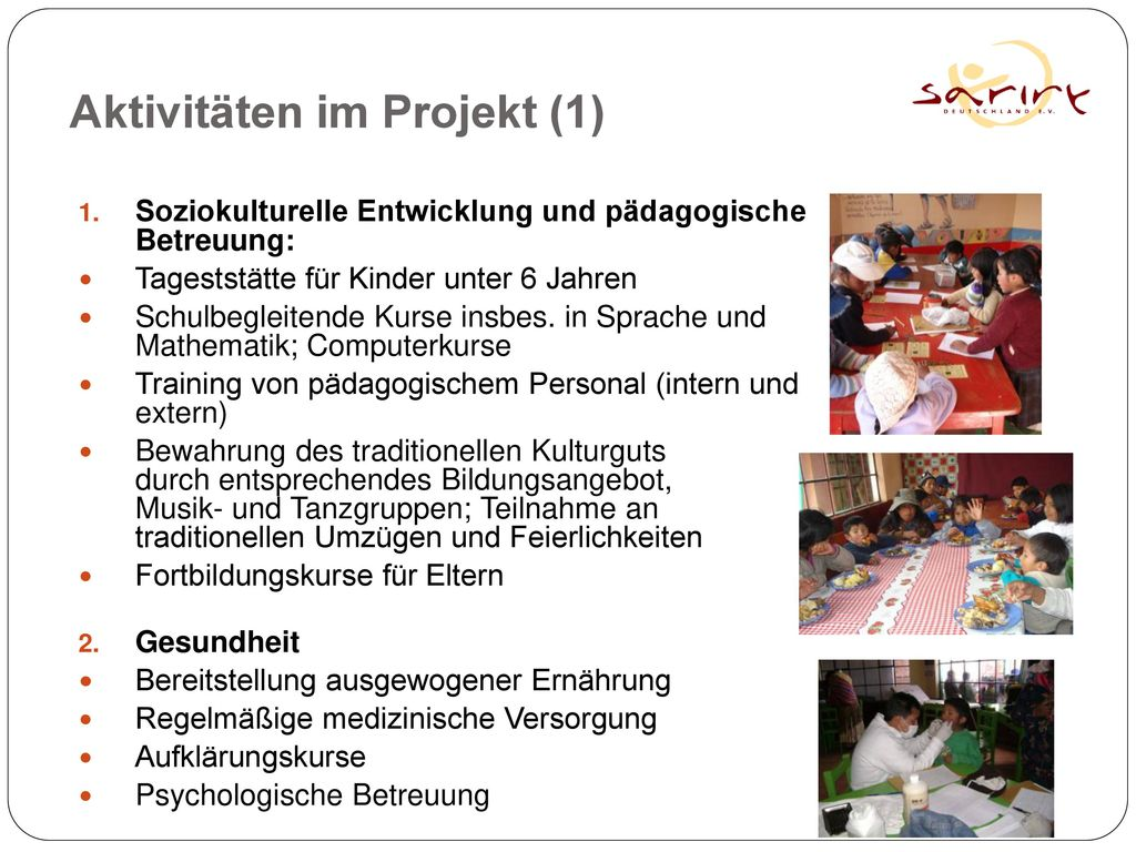 Aktivitäten im Projekt (1)