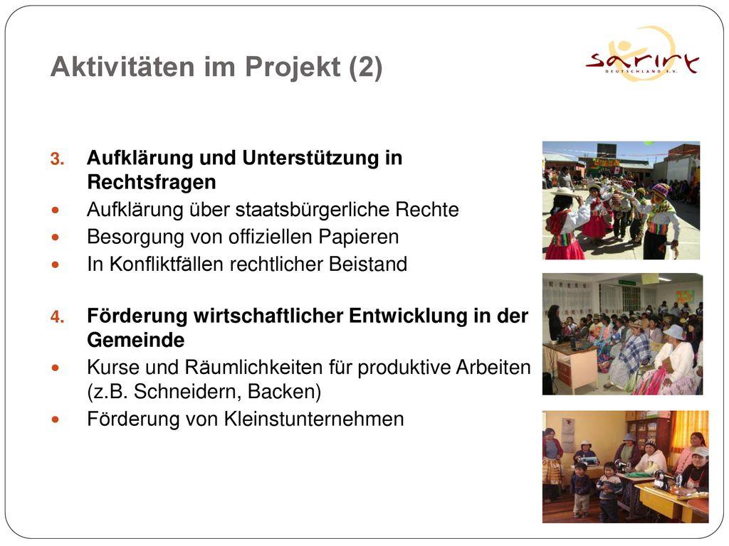 Aktivitäten im Projekt (2)