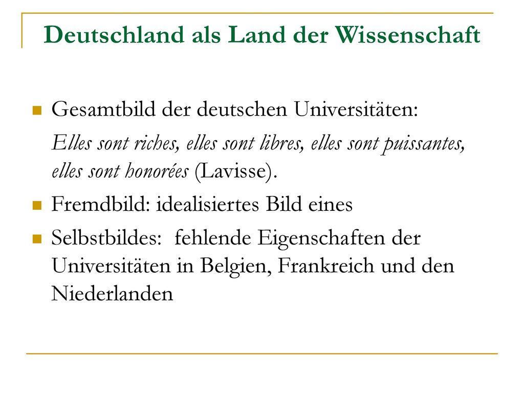 Deutschland als Land der Wissenschaft