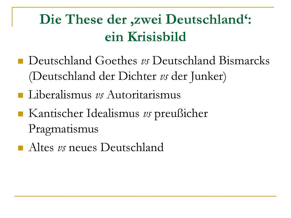 Die These der 'zwei Deutschland': ein Krisisbild
