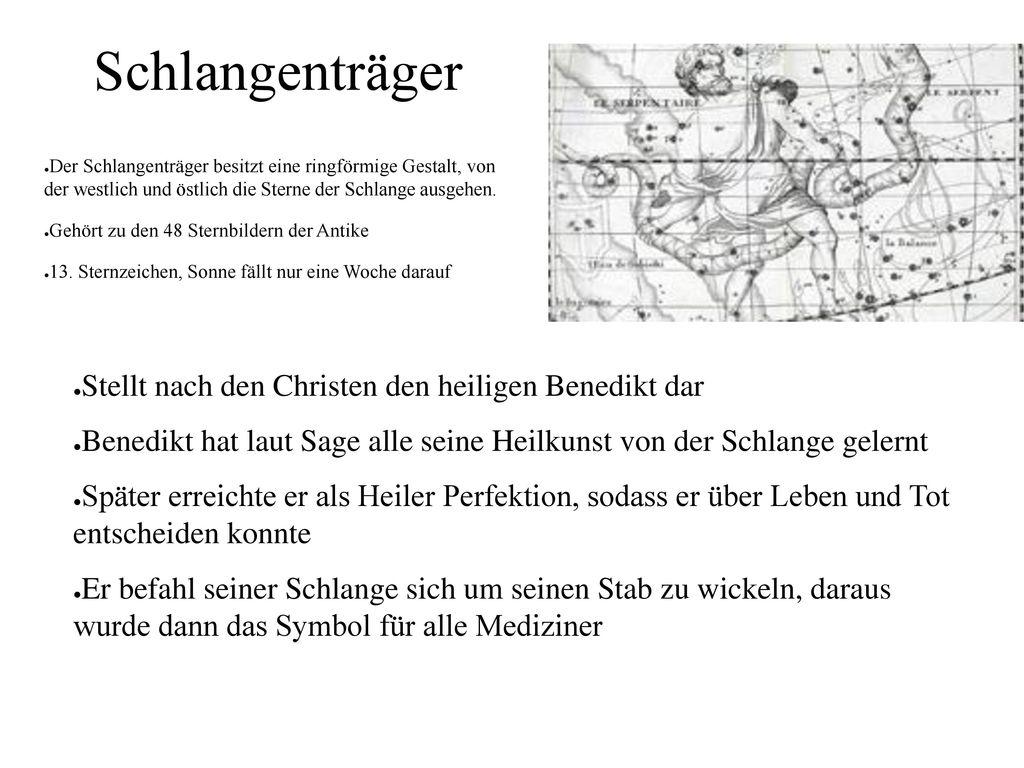 Schlangenträger Stellt nach den Christen den heiligen Benedikt dar