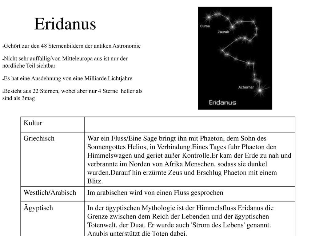 Eridanus Kultur Griechisch