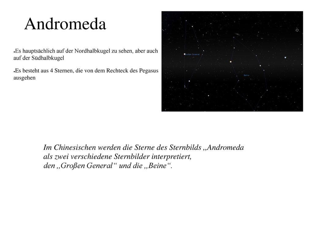 Andromeda Im Chinesischen werden die Sterne des Sternbilds ,,Andromeda