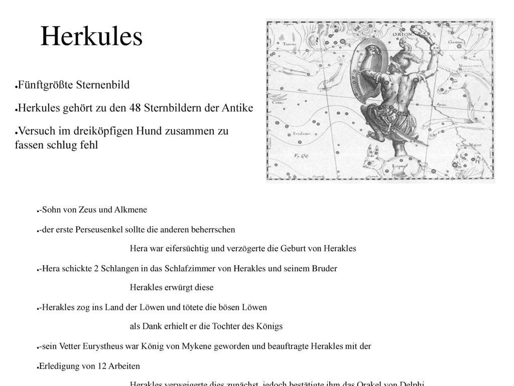 Herkules Fünftgrößte Sternenbild