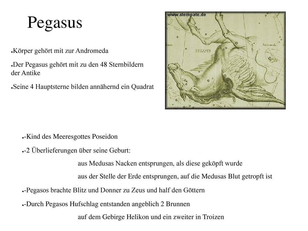 Pegasus Körper gehört mit zur Andromeda