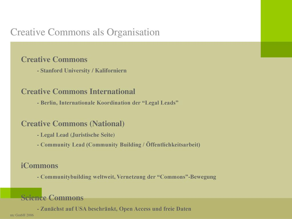 Creative Commons als Organisation