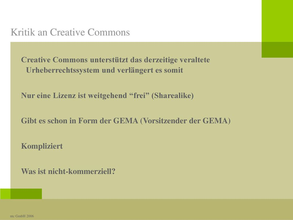 Kritik an Creative Commons