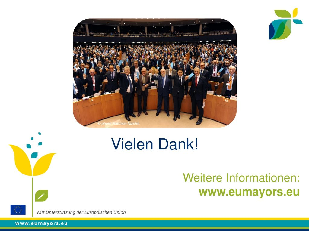 Vielen Dank! Weitere Informationen: www.eumayors.eu