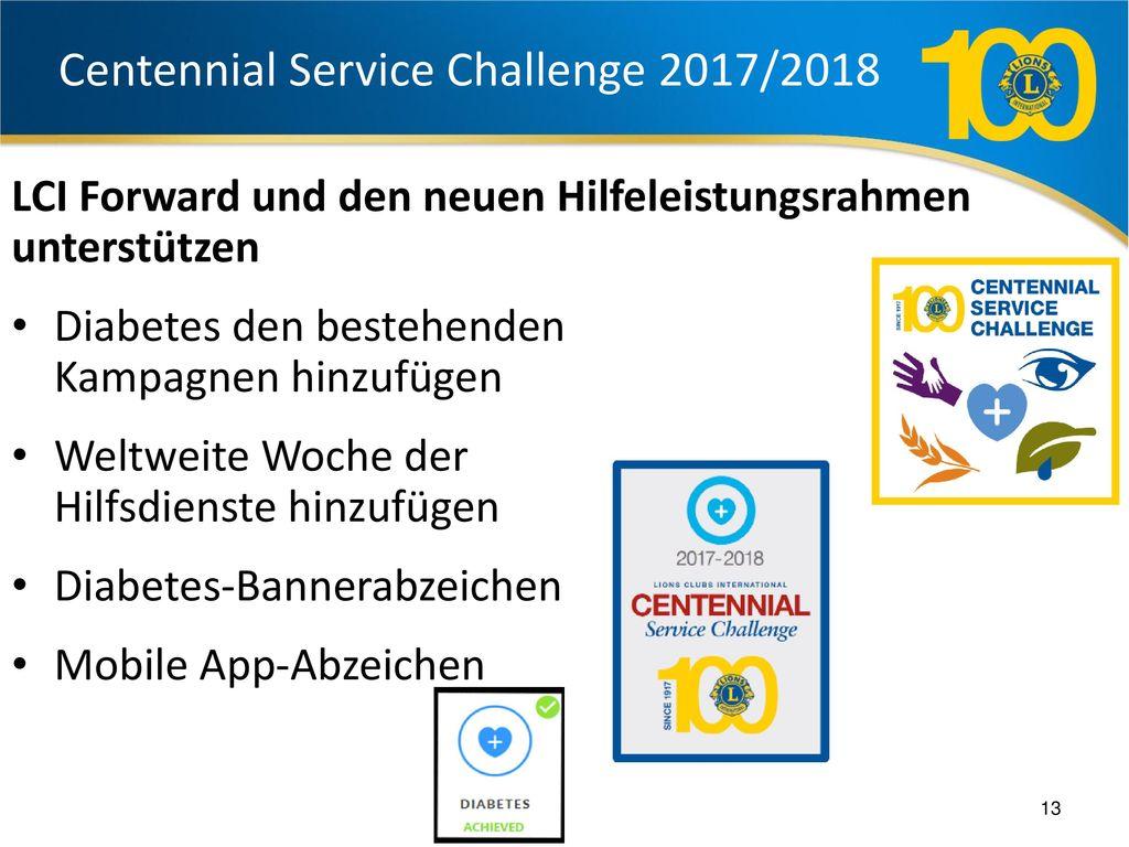 Centennial Service Challenge 2017/2018